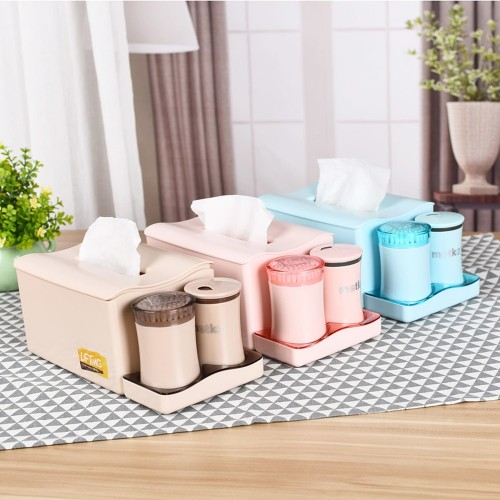 Creative Tissue Box With Cotton Swab Box Toothpick Box 3 In 1 Set