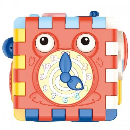 6 Sided Activity Educational Cube Brick Animal Geometric Shape Baby Intelligence Toy