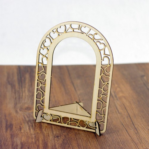 Home Decoration Frame Arched Wooden Craft