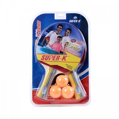 1Pair Of Competition Long Handle Ping Pong Table Tennis Rackets Paddles With 3 Balls