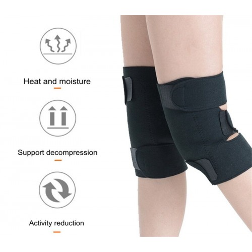 2 Pcs Health Care Magnetic Therapy Self Heating Knee Pads Professional Knee Support Protection Fitness