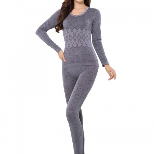 2 Piece set Female Autumn Thermal Breathable Warm Long Johns Slim Underwear Set