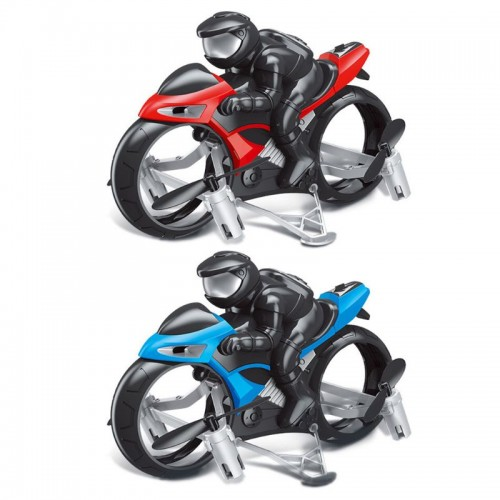 2 in 1 Remote Control Land Air Flying Motorcycle 2.4GHz Quadcopter Drone Racing Stunt Toy