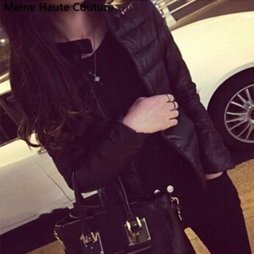 Thin short cotton padded warm jacket
