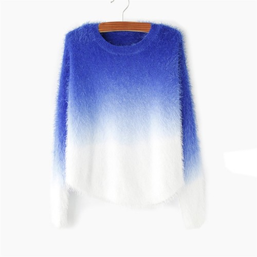 Cashmere O-neck loose wool sweaters