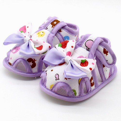 Cute Bow Breathable Anti Slip Baby Shoes 0-18 Months