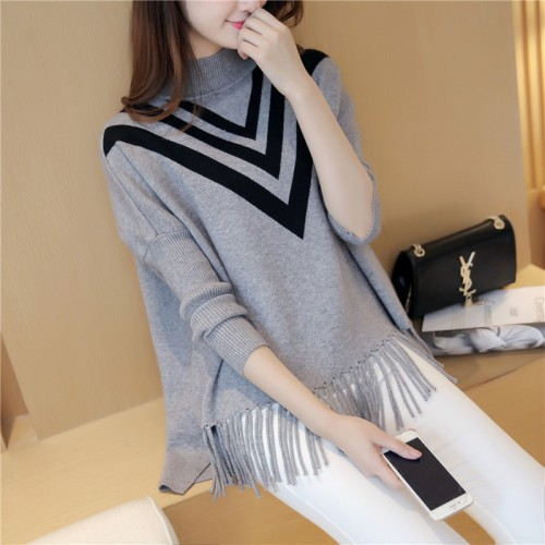 Tassel Long Cardigan Female Autumn Tricot Sweater Women Jackets Knitted Cape Poncho Winter Lady Tops