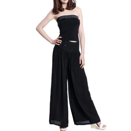 Soft Long Pant Wide Leg Pants Loose Slack Trouser Pajamas Palazzo
