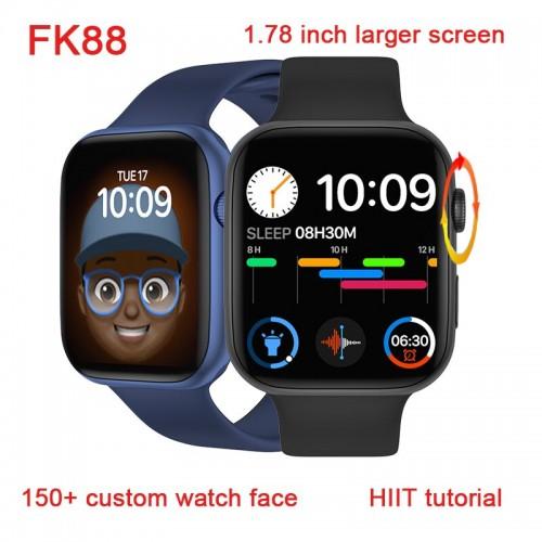 FK88S Smart Watch Women Men 1.78 Inch HD Encoder Knob Bluetooth Call ECG Health Monitor Bracelet