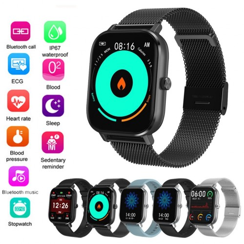 DT35 Smartwatch ECG Heart Rate Blood Pressure 1.54inch Bluetooth Call IP67 Waterproof