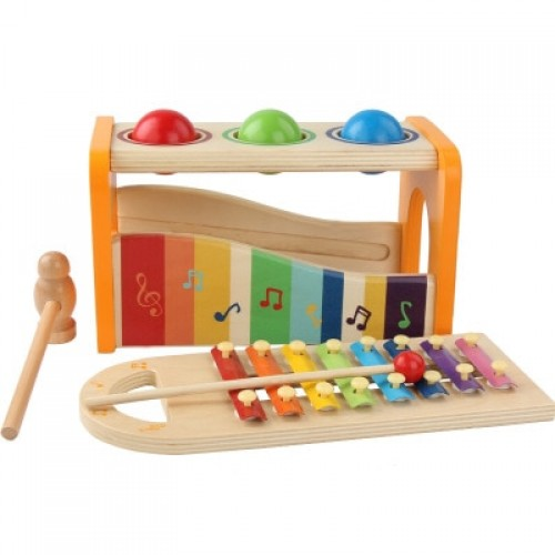 Wooden Musical Instruments Hammer Ball Xylophone For Children Kids