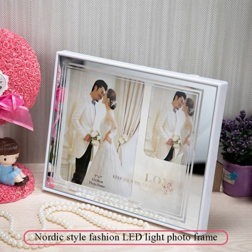 Home Decoration Bedroom Photo Frame USB LED Picture Painting Display Stand