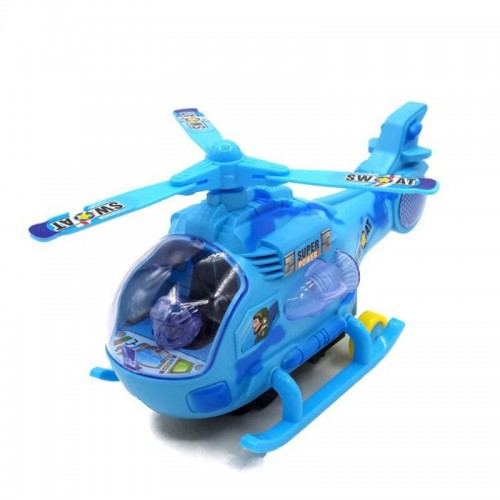 Electric Fighter Aircraft Children Music Flashing Wing Rotation Helicopter Toy For Kids