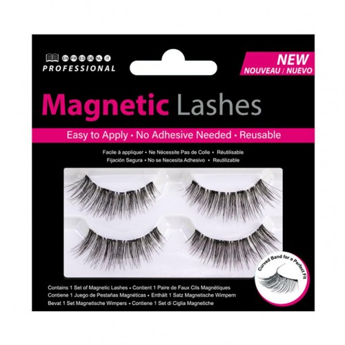 1 Pairs Natural Professional 3D Magnetic Cross Faux Eyelashes Handmade Thick Lashes Extension Makeup Tool