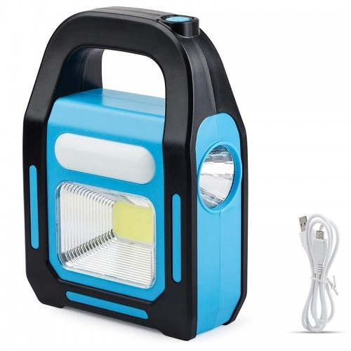 3 in 1 Solar USB Rechargeable COB LED Camping Lantern Power Bank Waterproof Flashlight