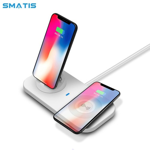3 in 1 USB Qi Wireless Fast Charger Quick Charging Pad Phone Holder Universal Charging Station For Smart Phones