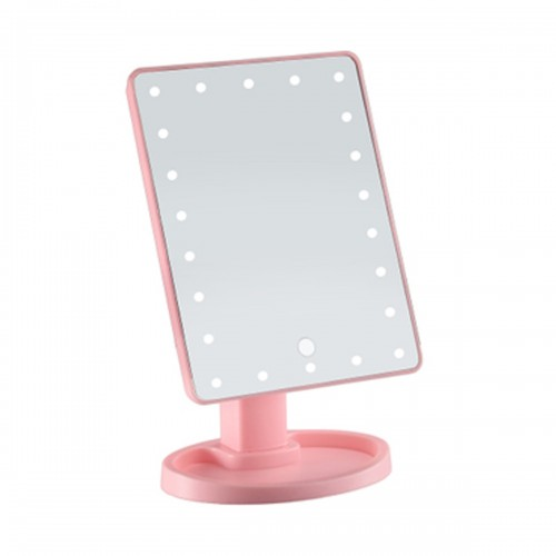 360 Degrees Rotation Makeup Mirror 22 LED Adjustable Touch Screen Cosmetic Beauty Desktop Vanity Table Stand Mirror