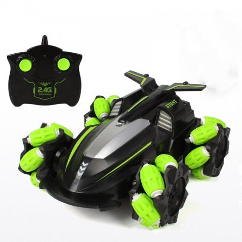 360 Rotation Buggy Portable RC Car 2.4G Double-sided Dump Chargeable Stunt Climbing Toy