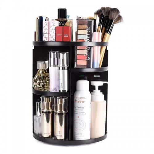 Spin Rotating Cosmetics Makeup Box Display Brush Tool Organizer Large Capacity Makeup Organizer