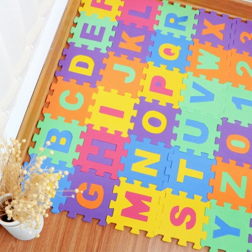 36pcs Baby Play Puzzle Mat EVA Foam Crawling Carpet Interlocking Floor Protective Tiles Soft Kids Jigsaw