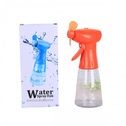 Creative Personal Misting Fan Handheld Cooling Fan With Spray Water Bottle Portable