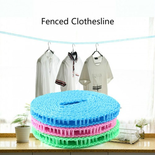 5M Nylon Clothesline Anti-Slip Clothes Hanger Travel Rope Washing Line Drying Rack Outdoor Windproof Fence