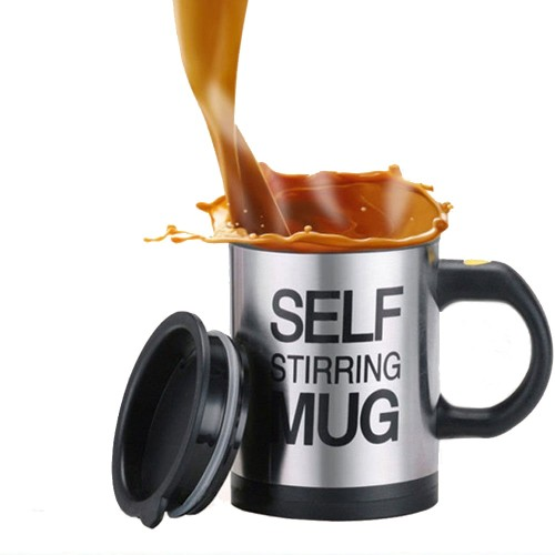 Coffee Mug Creative Stainless Steel Self Stirring Mug With Lid Automatic Mixing Lazy Insulated Coffee Cup for Office