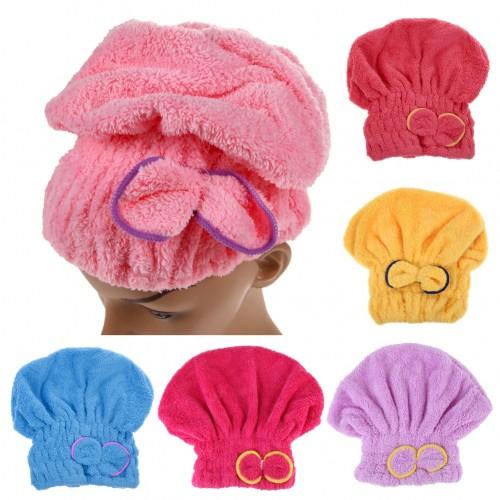 Microfiber Solid Quickly Dry Hair Hat Hair Turban Women Girls Ladies Cap Bathing Drying Towel Head Wrap