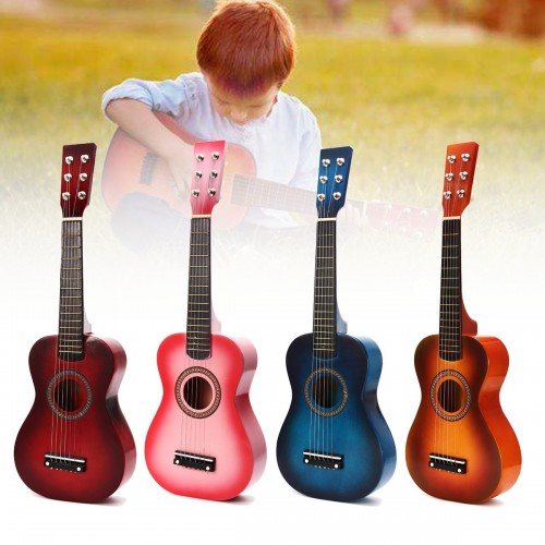 6 Strings Children Wooden Acoustic Guitar Musical Instrument Toy 23 Inch
