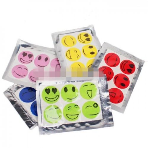 60Pcs/Set Mosquito Repellent Stickers Patches Smiling Face Drive Midge Citronella Oil Mosquito Killer Cartoon Repeller