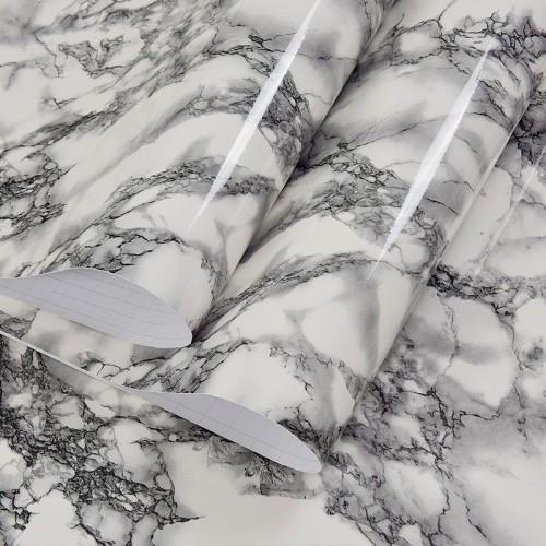 60cm x 100cm Marble Mural PVC Waterproof Vinyl Self-adhesive Kitchen Living Room Desktop Stickers