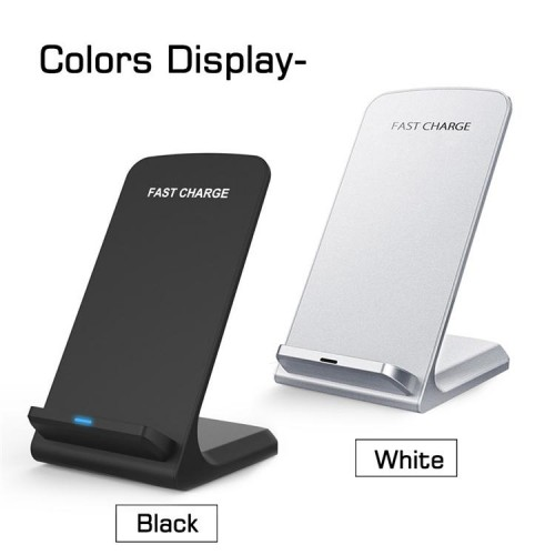 Fast Wireless Charger Qi Charger 10W Two Coils Wireless Fast Charger LED Indicator Display
