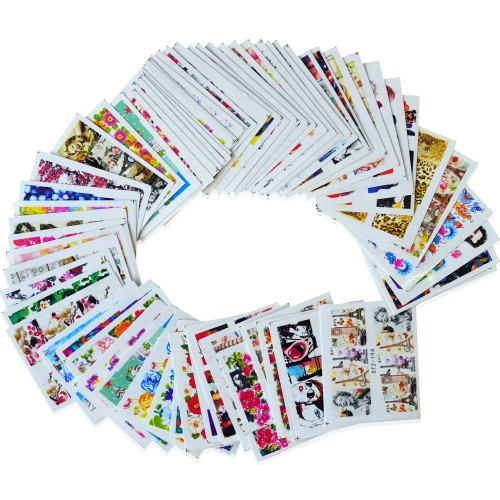 64 Designs Nail Sets Full Cover Nail Art Sticker