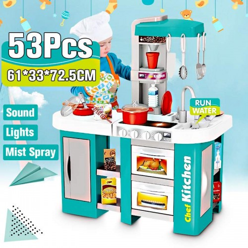 Height Large Size Kitchen Play set Pretend Play Toy Chef Cooking  Accessories Gifts For Kids