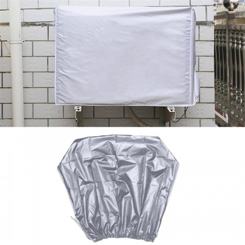 86cm Air Conditioner Cover Waterproof Dustproof Sunscreen Outdoor Protector Silver Fabric Shield