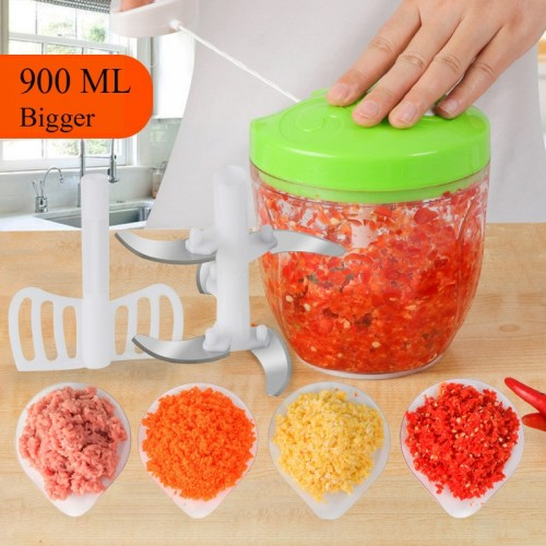 900ML Multi function High Speedy Design Vegetable Fruit Twist Shredder Grinder Chopper