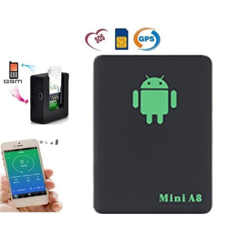 A8 Mini Tracker Global Real Time GSM GPRS Tracking Device With SOS Button For Cars Kids No GPS