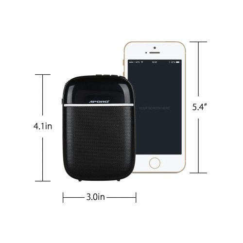 APORO T3 Bluetooth Speaker FM Radio Music Player With UHF Wireless Microphone Noise Reduction HiFi Voice Amplifier