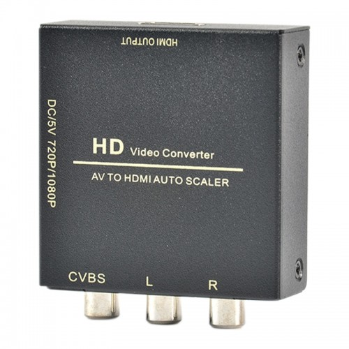 AV To HDMI Adapter RCA To HDMI HD Converter 1080p