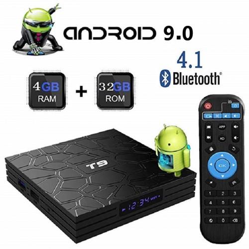 T9 TV Box Android 9 TV Box RK3328 Quad Core 4GB 32GB Smart 4K Set Top Box 2.4G Bluetooth 4.1