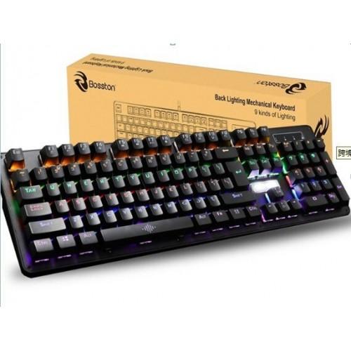 BOSSTON MK912 Wired Mechanical Keyboard RGB Keyclick Colorful Backlight USB Luminous Keyboard