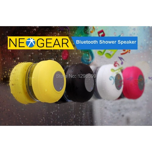 BTS-06 Bluetooth Shower Speaker Water Resistant Built-in Microphone Suction Cup Music Control
