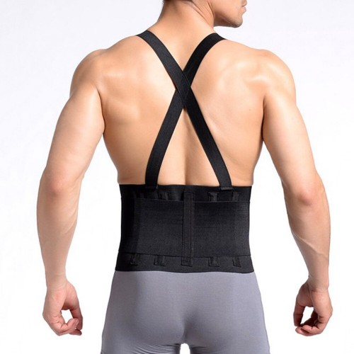 Back Strap Lower Back Support Therapy Scoliosis Back Pain Belt Breathable Double Pull
