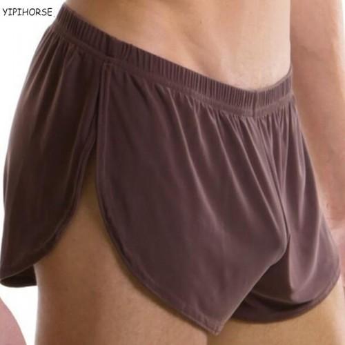 Men Male Underwear Comfortable Boxer Shorts U Convex Silk Pouch Underpant