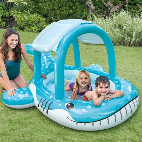 Blue Whale Shape Plastic Thickening Material Awning Window Swimming Pool