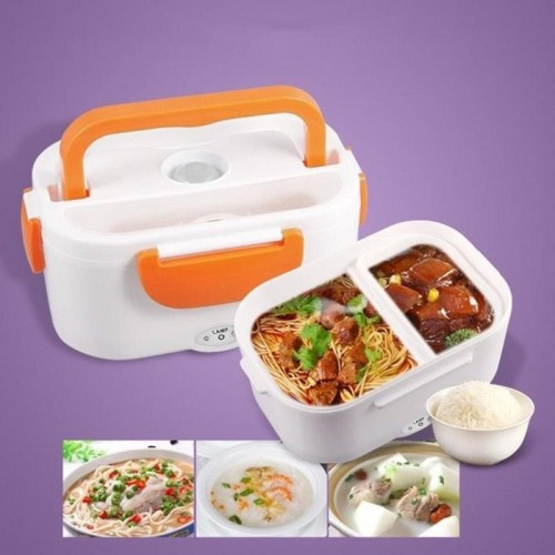 Electric Food Heating Lunch Box For Student Multi-functional Food Warmer Container For Travel Picnic School