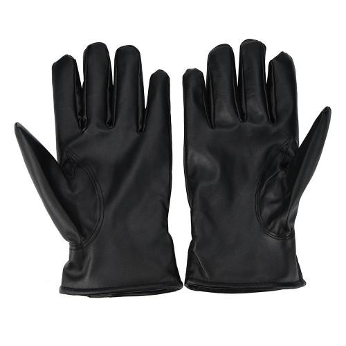 Fashion Warm Cashmere PU Leather Winter Gloves Waterproof