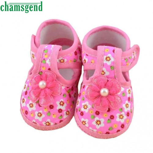 Pink Flower Baby Boots Soft Crib Shoes for girls