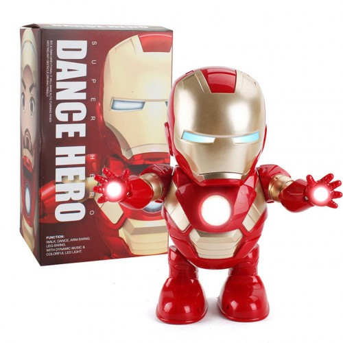 Avengers Marvel Ironman Dance Warrior Robot Lighting Music Electric Toy