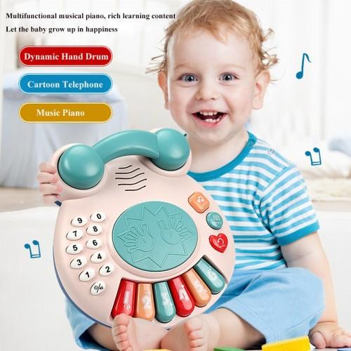 Children Music Telephone Baby Multifunctional Piano Hand Drum Baby Educational Toys